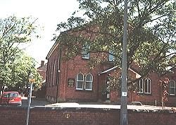 The exterior of Portland Hall Spa Southport