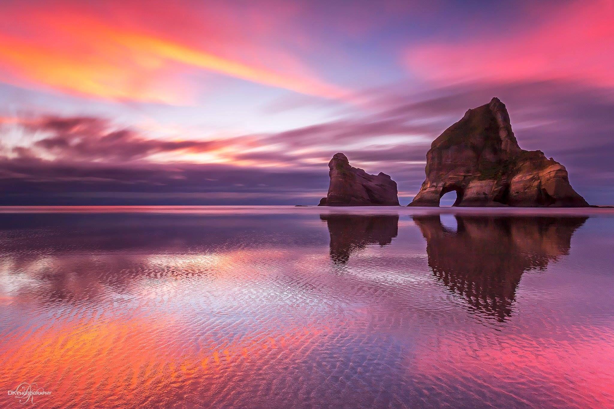 Wharariki | Travel wallpaper, Dream vacations, Sunset ...