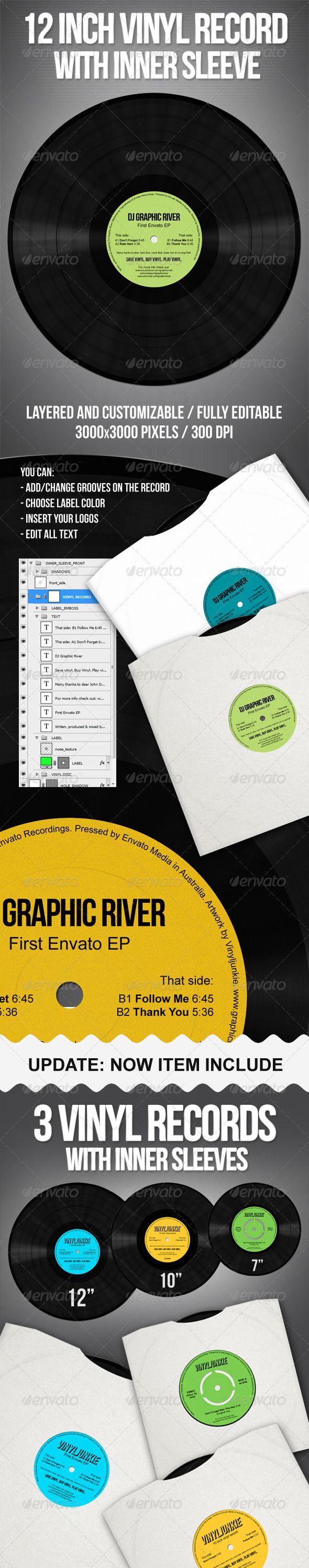 Realistic Vinyl Records With Inner Sleeves Dj Website Templates Vinyl Records Best Resume Template