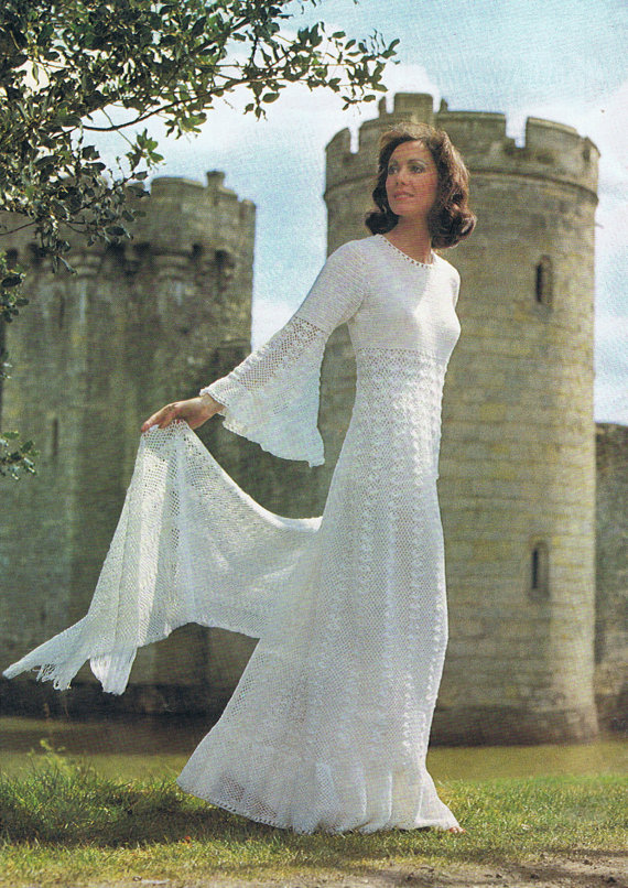 Enchanting Wedding Dress Crochet Pattern by HeirloomPatterns ...