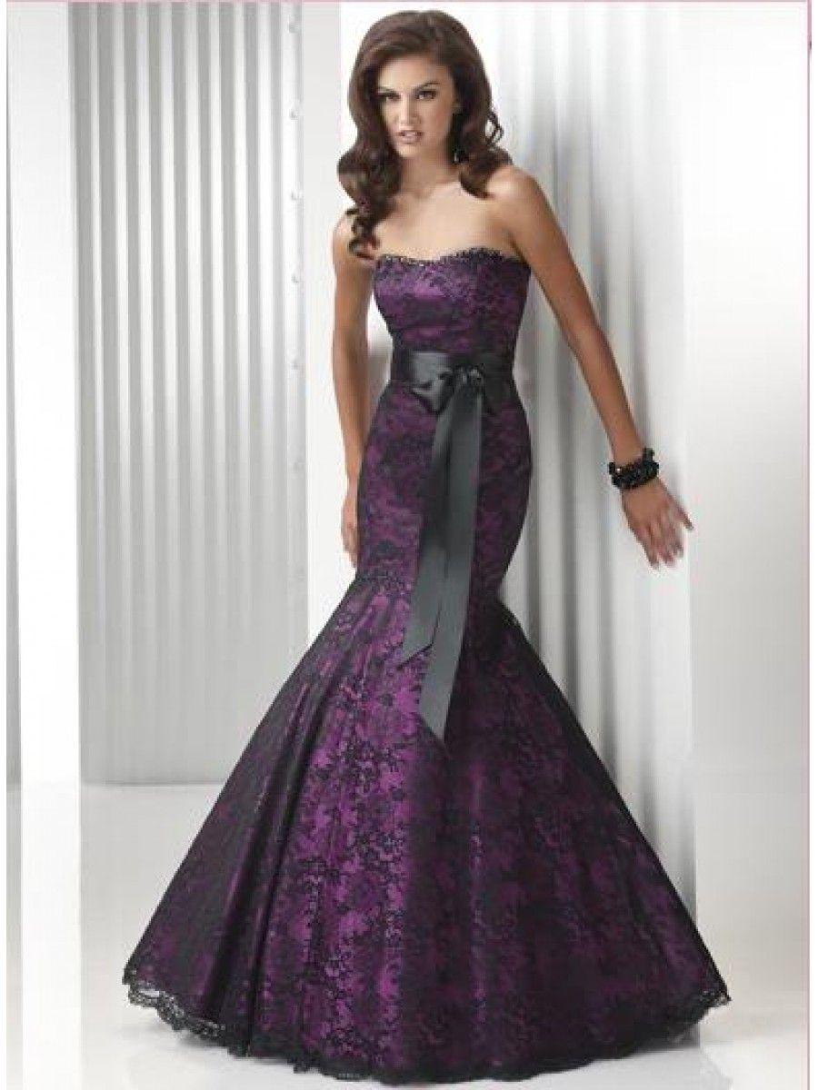 Purple dark prom dresses with sleeves rare photo