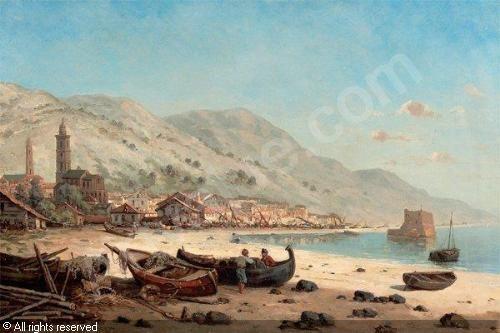 """Mascart Gustave - """"Village de pêcheurs"""""""