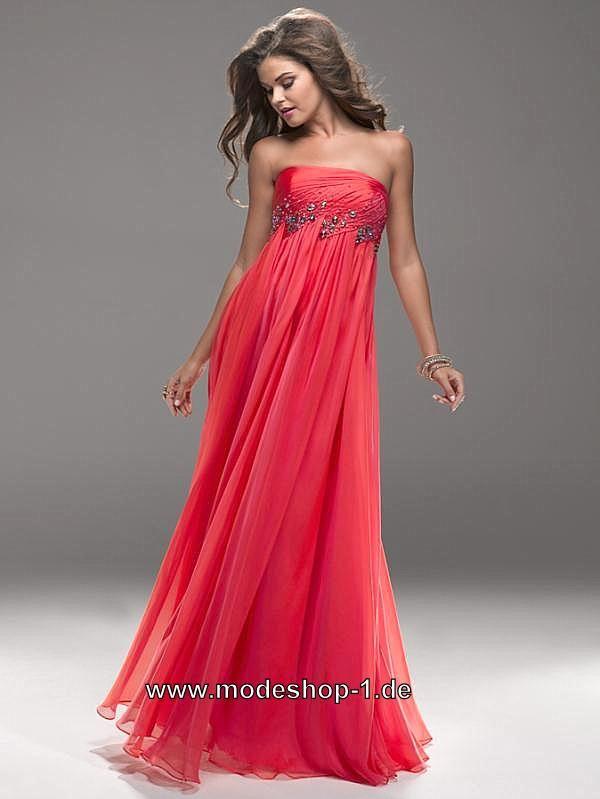 Empire Abendkleid Lang In Rot Von Www Modeshop 1 De Abendkleid Kleider Rote Mode