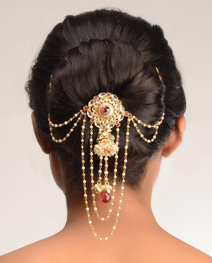 Kundan Indian Jhoomar Hair accessory Indian wedding
