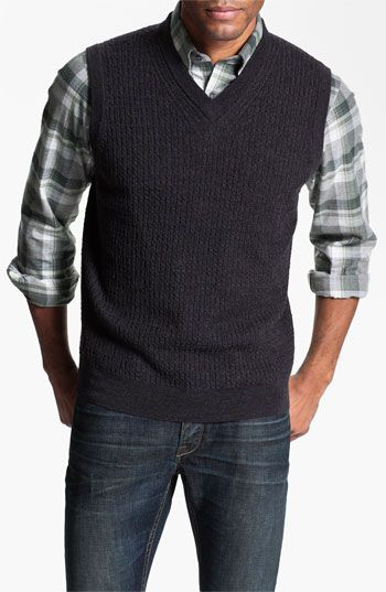 Nordstrom Cable Knit Merino Wool Sweater Vest | Nordstrom #nsale ...