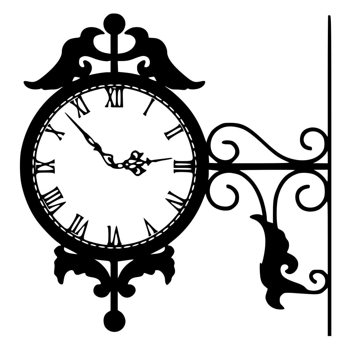 Cutting Files For You Clock Designs Silhouette Clip