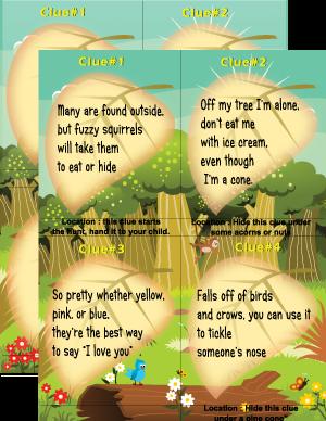 Camping treasure hunt riddles