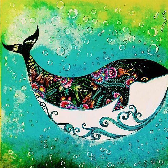 Colorindolivrostop On Instagram Bomdia Bomdomingo Bonjour Goodmorning Bolhas Bolinhas T Lost Ocean Coloring Book Johanna Basford Lost Ocean Lost Ocean
