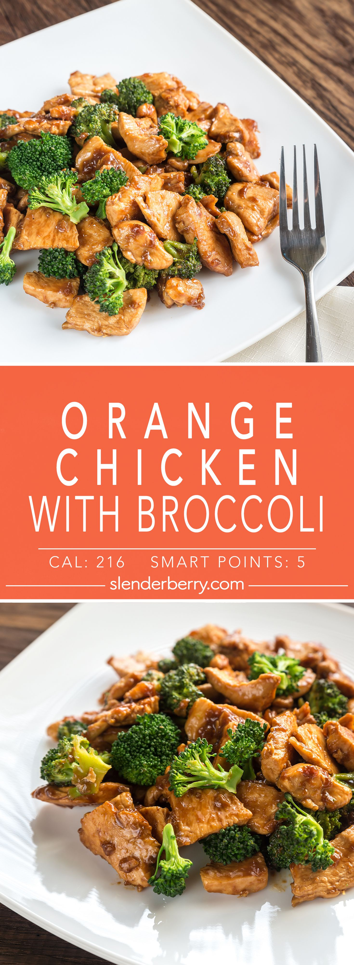 Orange Chicken with Broccoli #chineseorangechicken