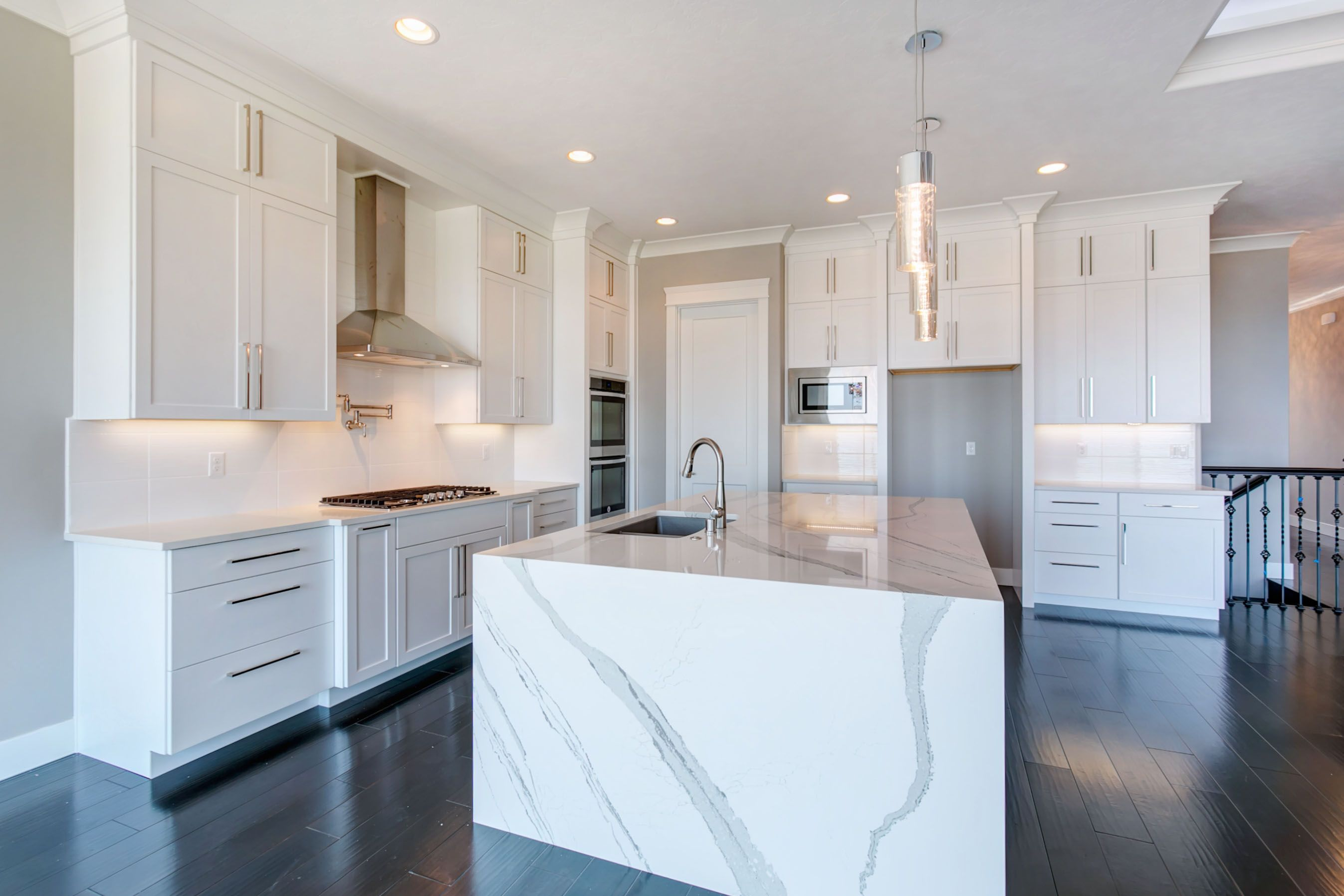 Photo Gallery Prodigy Homes Inc Waterfall Countertop Waterfall Island Kitchen Countertop Design