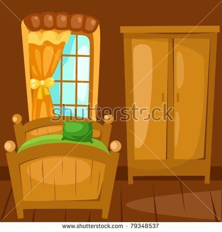 illustration of landscape bedroom