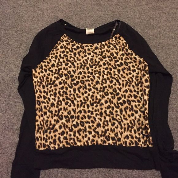 A Victoria secret, long sleeved shirt. Very good condition, bought it & never really wore it. Super cute though. & very comfortable PINK Victoria's Secret Tops Tees - Long Sleeve
