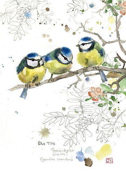 Декоративные открытки и акварель Jane Crowther