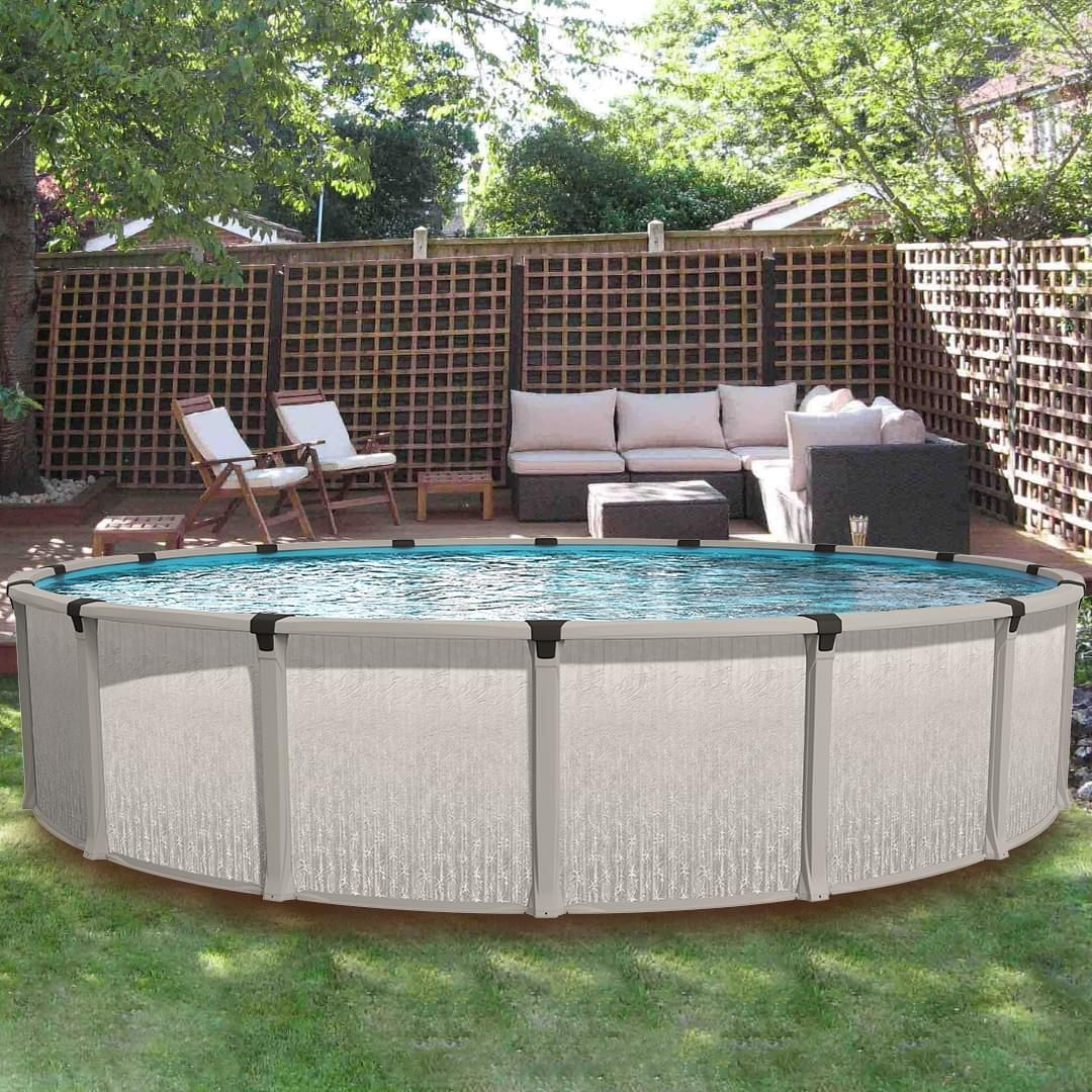 Eternia 15 Ft Round Above Ground Pool With Liner And