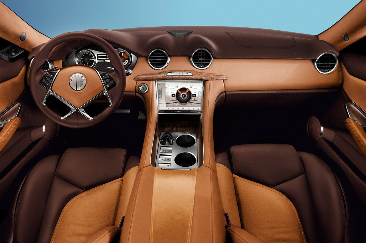 Fisker Karma interior. Really nice. Too bad the company is