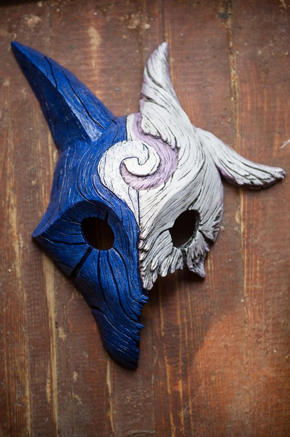 Inspired Kindred Wolf-Lamb MIXED Mask League of Legends Lol | Etsy