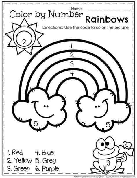 Line Drawing Numbers : March preschool worksheets st patrick pinterest