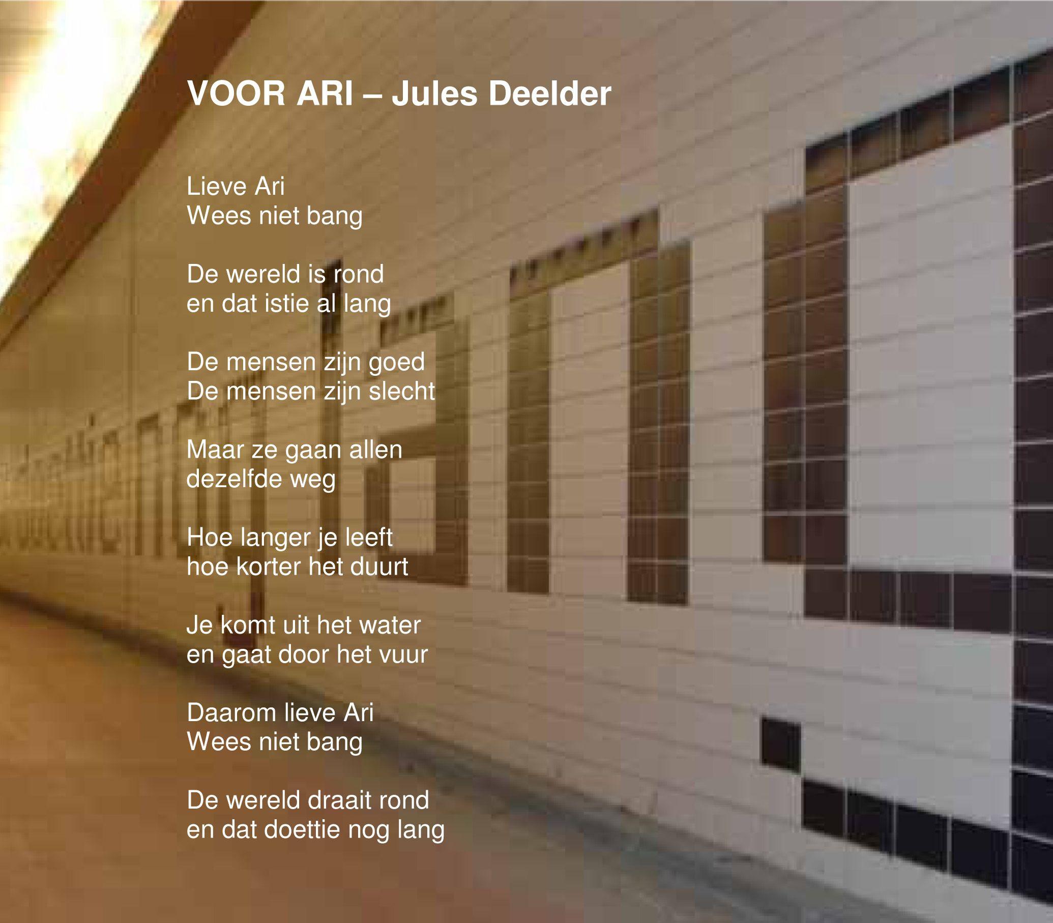 Text from a Dutch Poet - Jules Deelder