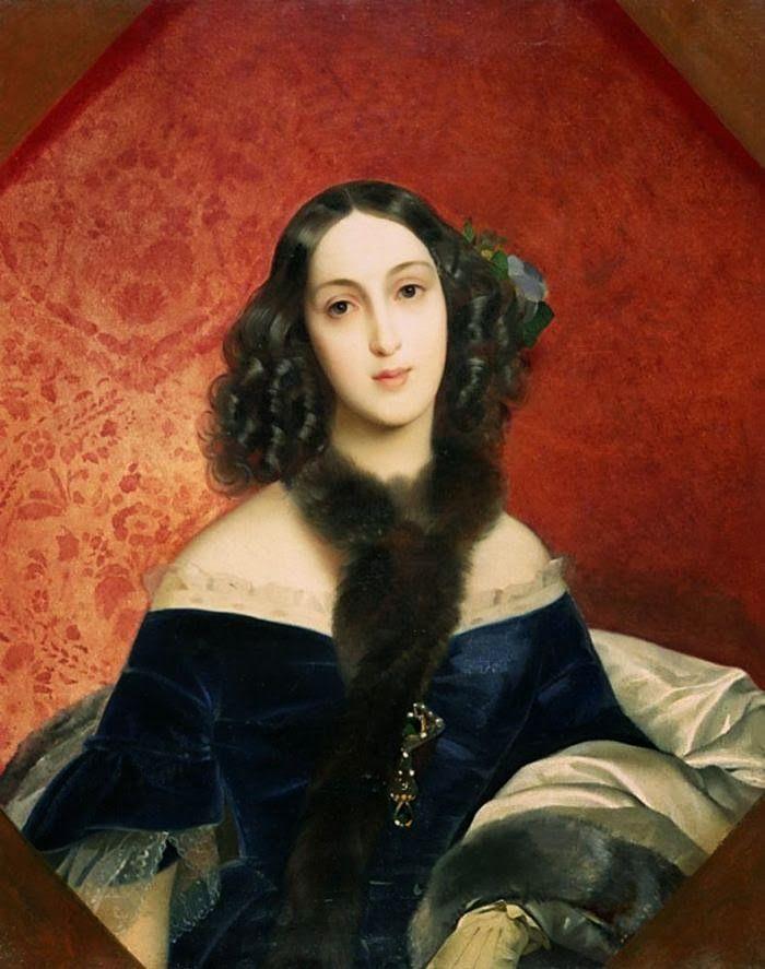 Portrait of M. A. Beck - Karl Bryullov 19th century