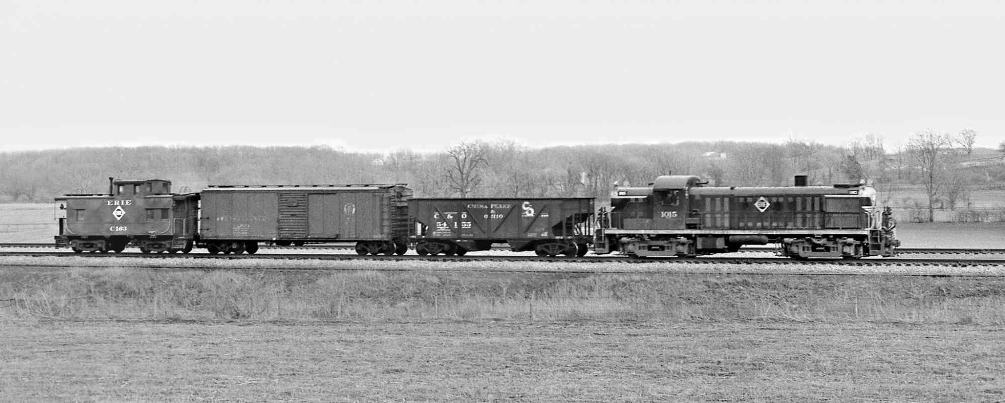 ERIE, Fairborn, Ohio, 1956 Railroad photography