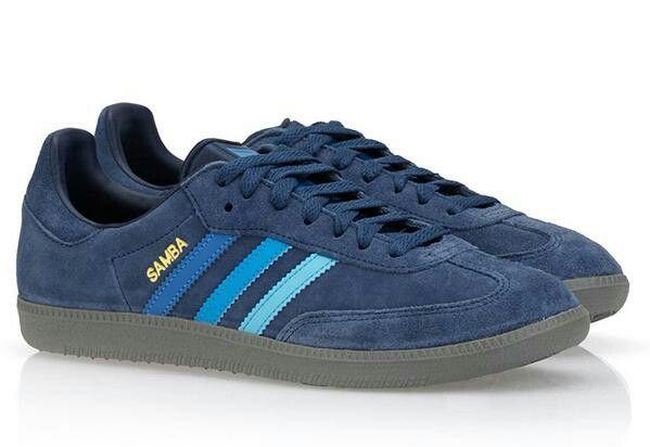 Adidas Samba Suede Blue Navy