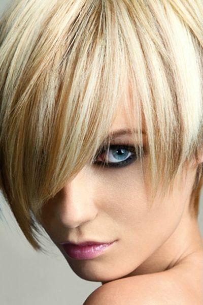 Blonde Pixie Cut With Fringe