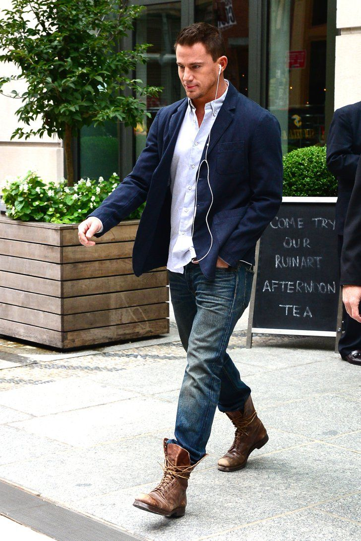 cef0ef20 Pin for Later: Can't-Miss Celebrity Pics! Channing Tatum stepped out of his  NYC hotel solo on Monday.