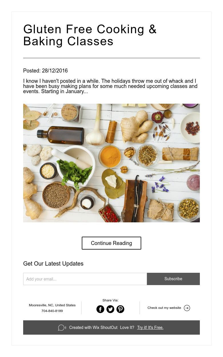 Gluten free cooking baking classes baking classes