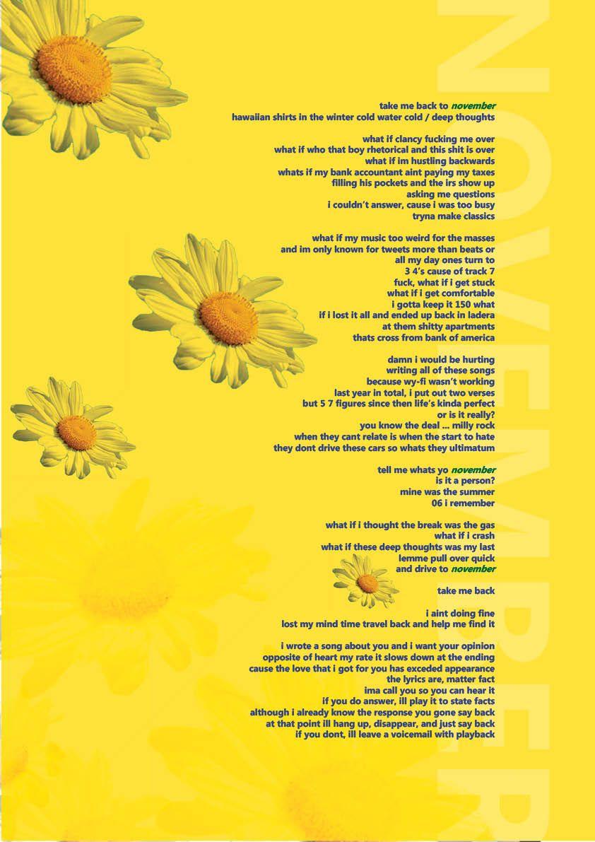 november tyler the creator flower boy lyrical poster