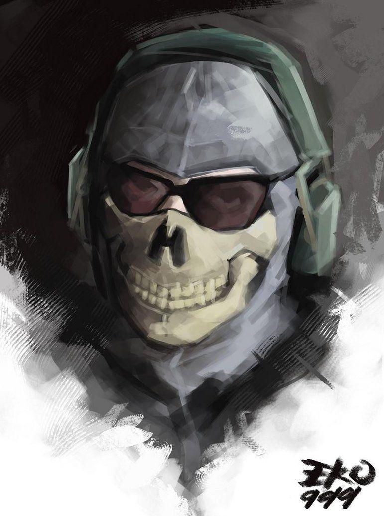 Call Of Duty MW2 Ghost by eko999 | calle of duty fan | Pinterest ...
