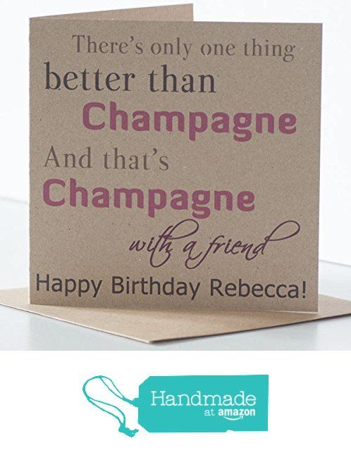 Champagne Birthday Card Personalised Birthday Card For A Friend