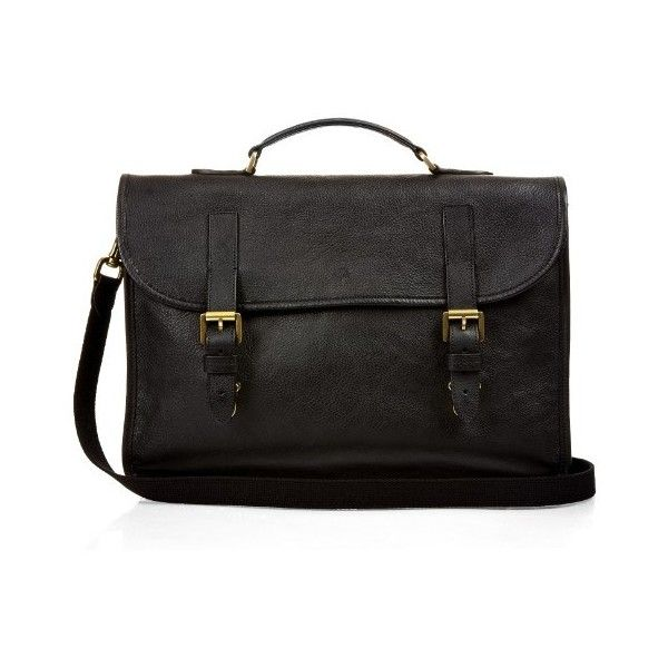 Mulberry Elkington grained-leather briefcase (2.400 BRL) liked on Polyvore featuring men's ...
