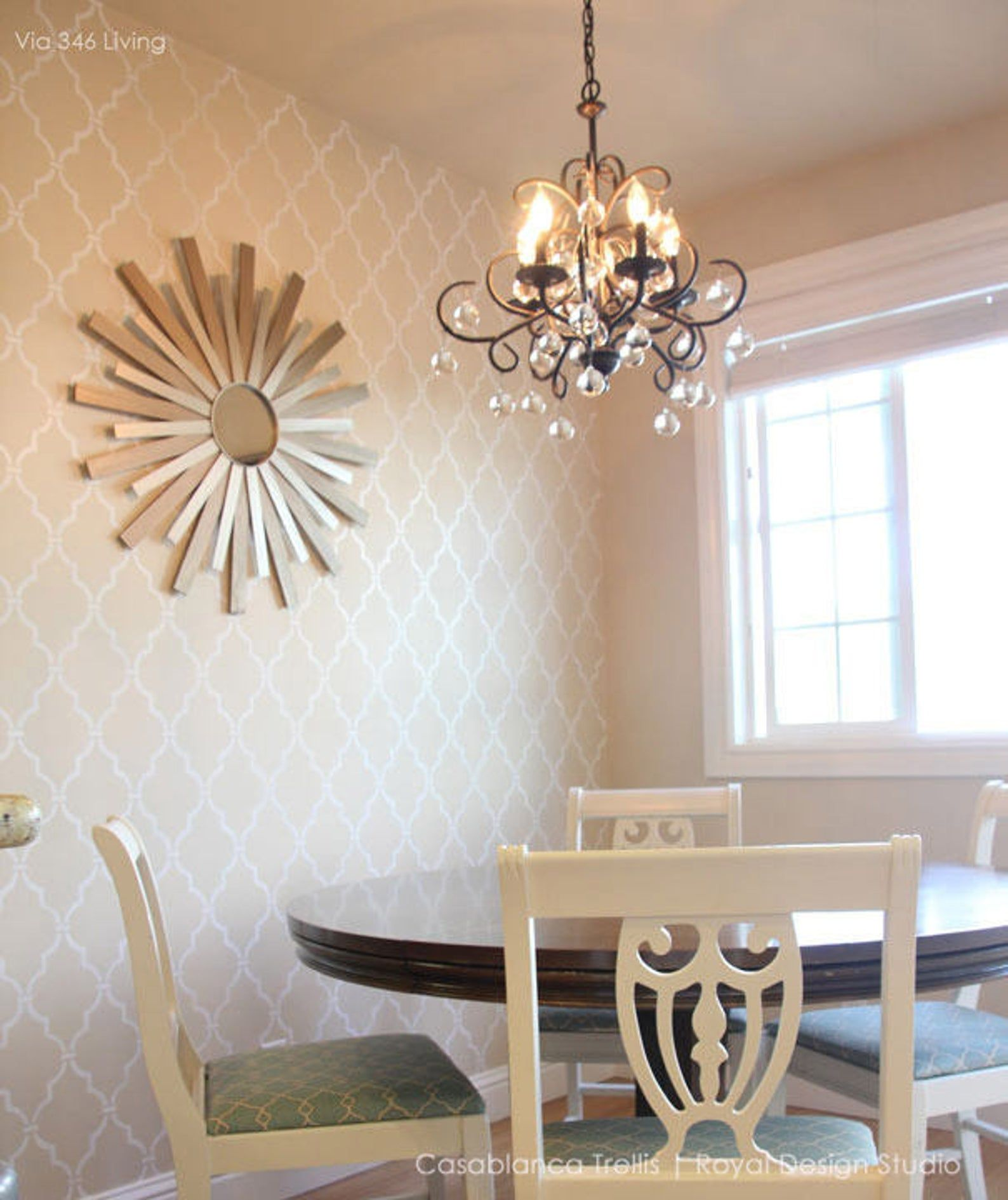 Large Trellis Wall Stencil - Custom Mural Decor for Feature Wall Art - DIY Wall Stenciling Patterns