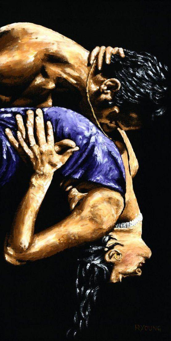 Torrid Tango Dancing fine art  ~ Argentine Dance oil painting
