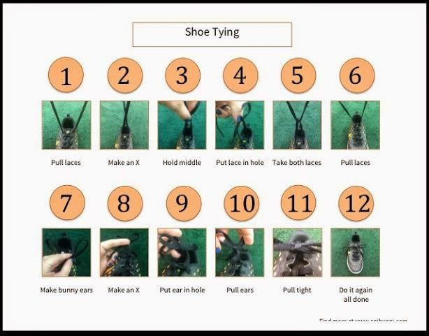 AniBunni: Teaching how to tie a shoe aba, chart, child ...