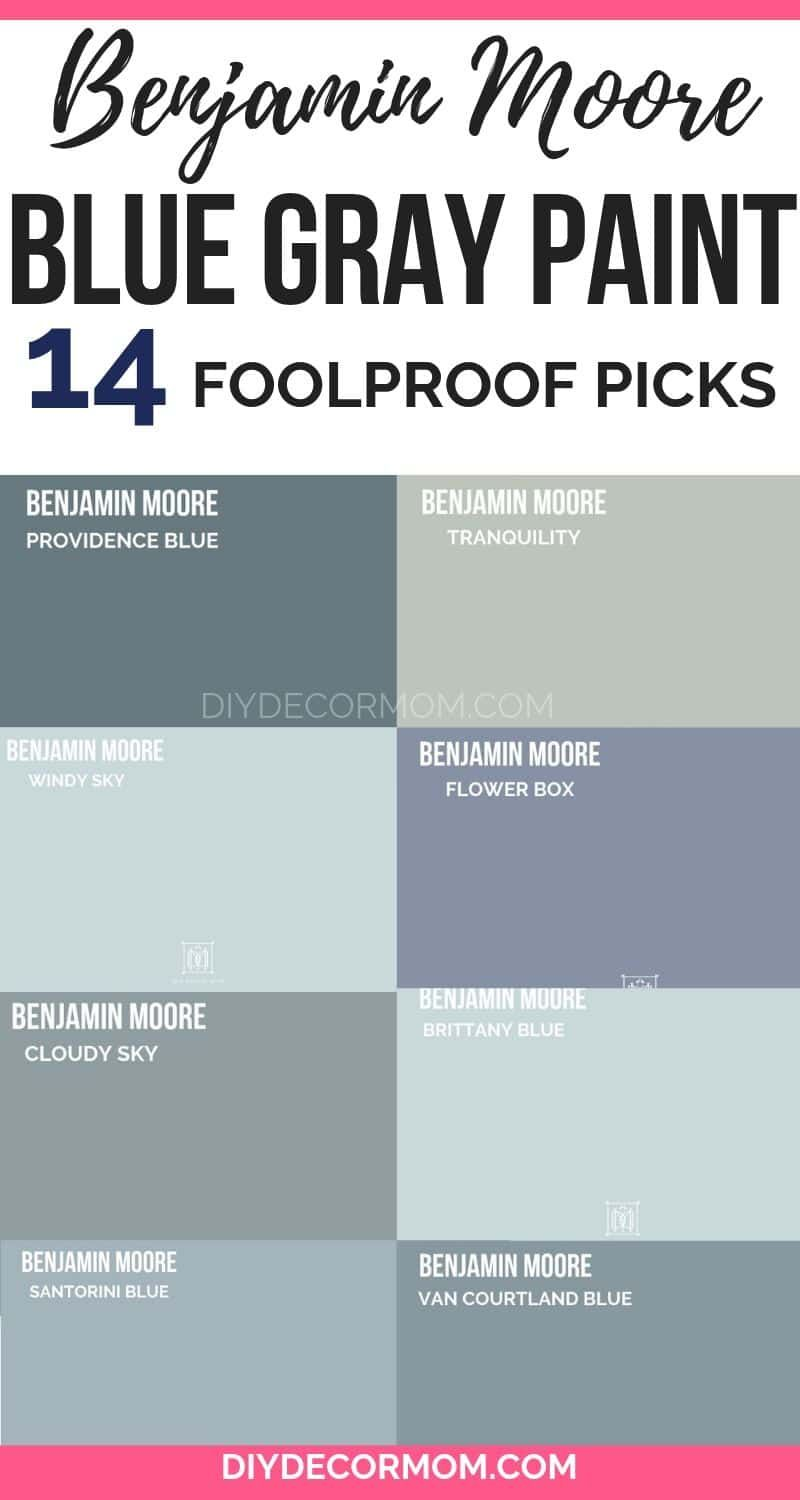 See The Best Benjamin Moore Bluish Gray Paint Colors You Need In Your Home Designer Favorites For Blue Gra Blue Gray Paint Grey Paint Colors Bluish Gray Paint