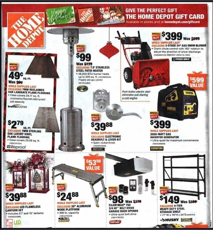 Print Ad Home Depot Black Friday 2018 Home depot, Home