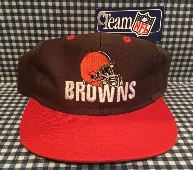 low priced 2d23e 7587e NWT Vintage Cleveland Browns Adjustable Fit SnapBack Hat Competitor VTG NOS  NFL   eBay