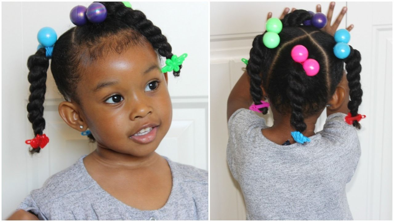 Ponytails Twists Cute Hairstyles For Kids Little Girls