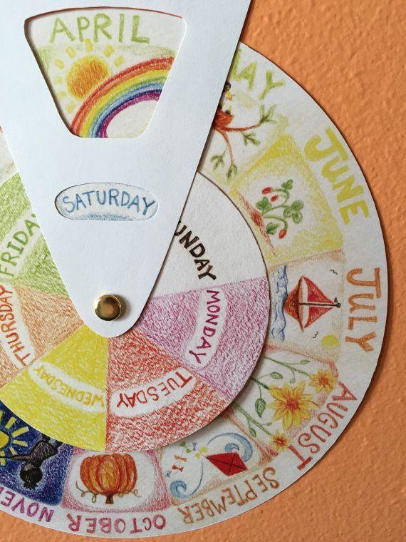 circular calendar  kalender für kinder kinder basteln