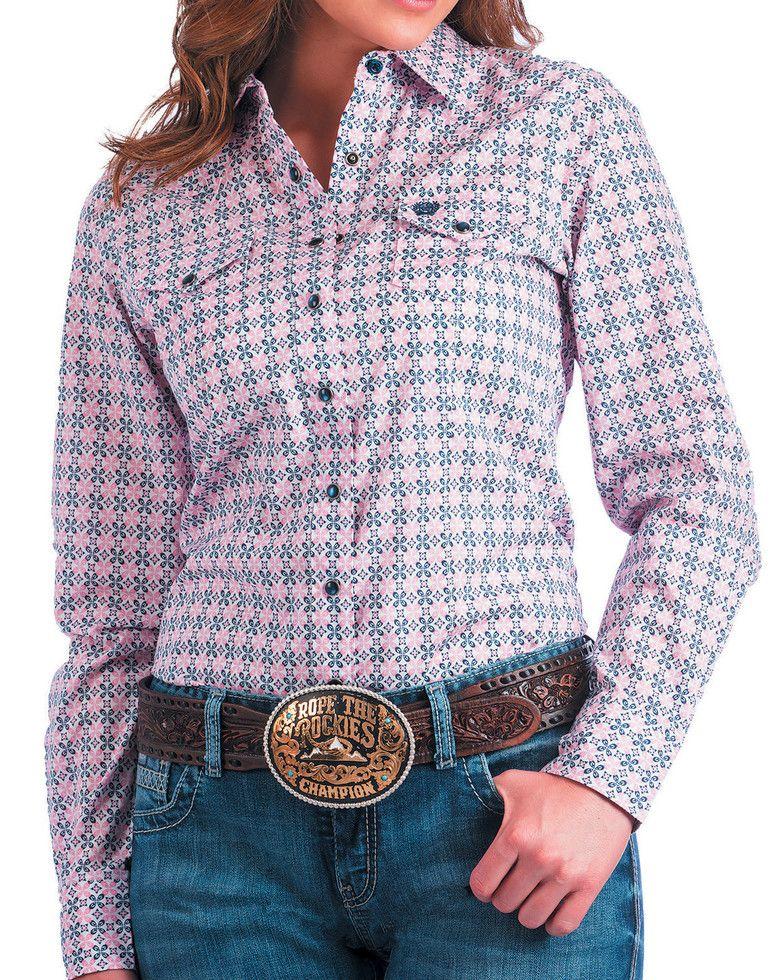 791e5eea Cinch Women's Pink Medallion Print Western Shirt | Sheplers ...