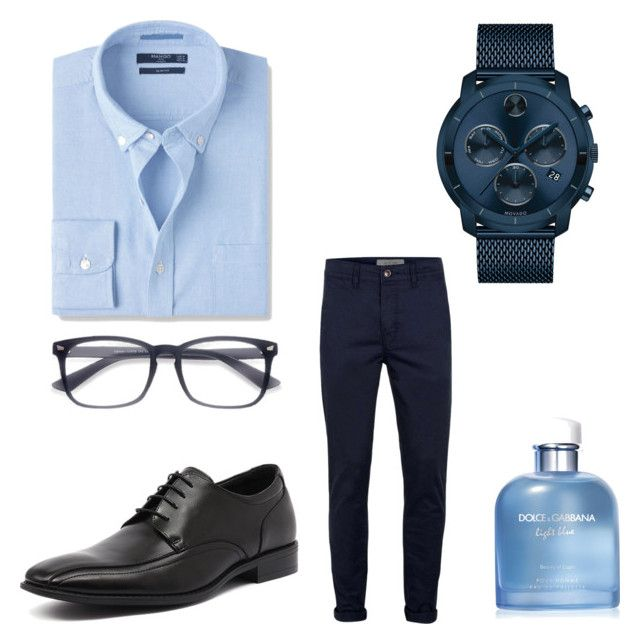 """Work like a boss"" by estrella-eor on Polyvore featuring MANGO MAN, Julius Marlow, Movado, Topman, Dolce&Gabbana, men's fashion y menswear"