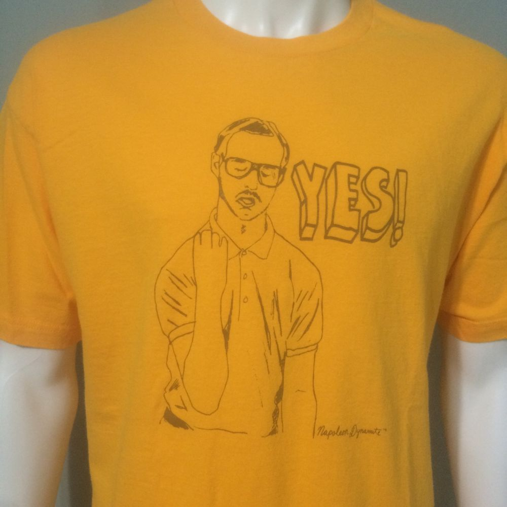 6a8dbbe8d47841 Napoleon Dynamite Brother Kip Large T-Shirt Yes Vote For Pedro MTV Movie  Comedy  NapoleonDynamite  GraphicTee