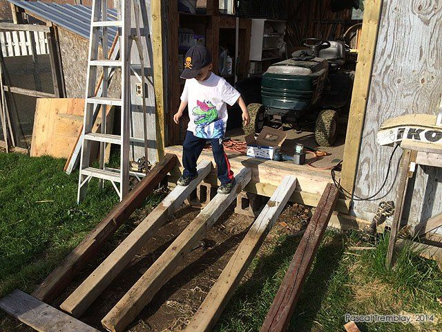 Shed R& - Building a Wooden R& for a Shed or Storage Building & Shed Ramp - Building a Wooden Ramp for a Shed or Storage Building ...