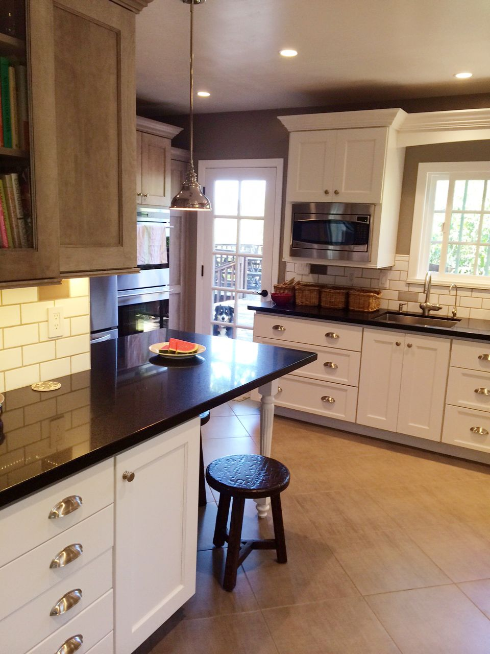 cabinets in white and cabinets in gray come together to create a beautiful kitchen in santa on kitchen cabinets not white id=90944