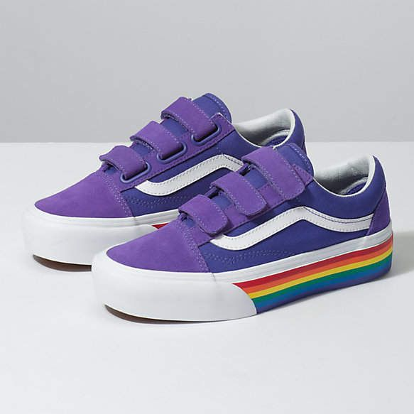 Rainbow Old Skool V Platform | Shop in 2020 | Rainbow vans