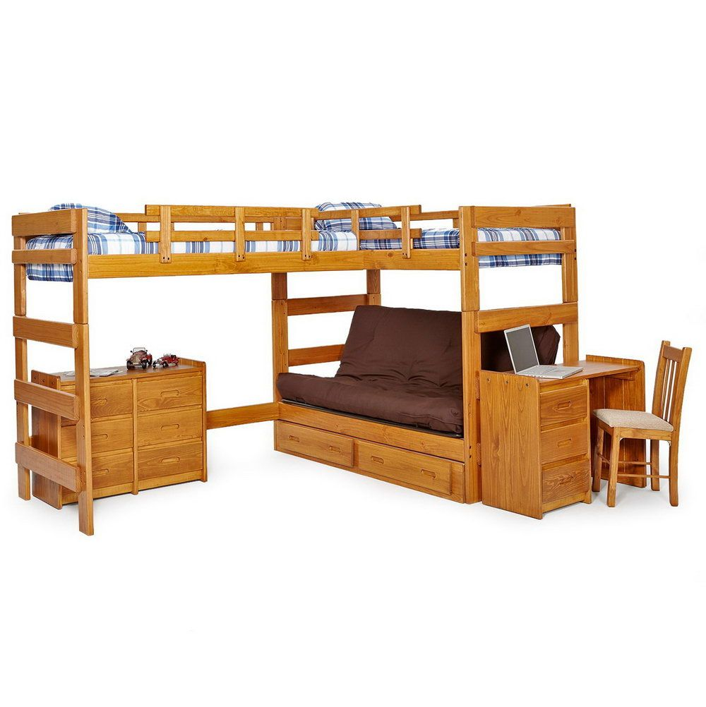 2018 Wood Bunk Bed With Futon Mens Bedroom Interior Design Check More At Http