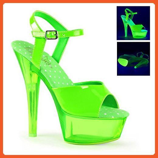 66e08ae51c309 Pleaser Women's Kiss 209UVT Dress Sandals, Green Leather, 8 M ...