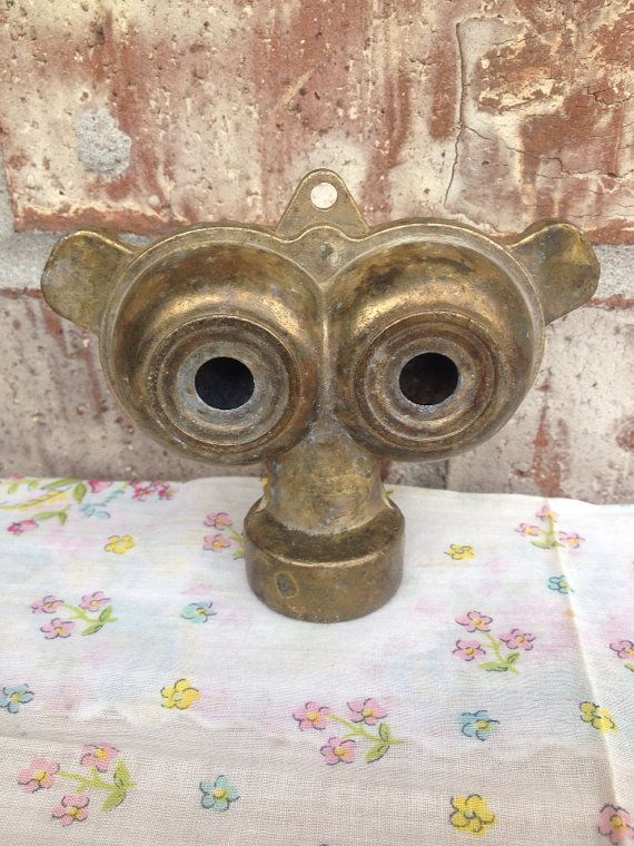 Vintage Dual Spray Owl Eyes Lawn Hose Sprinkler Attachment Br Head On Etsy 8 95