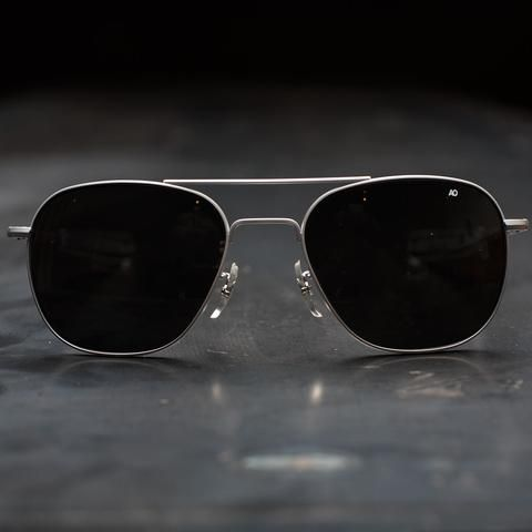 AO Original Pilot Sunglasses - Matte Chrome Frame in 2019  f96aef42d9